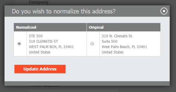 Hotcakes: Validated (normalized) address
