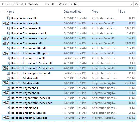 Bin folder with PDB files added