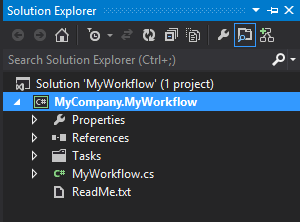 Project open in Visual Studio Solution Explorer