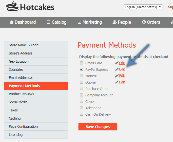 Hotcakes Enable PayPal Express