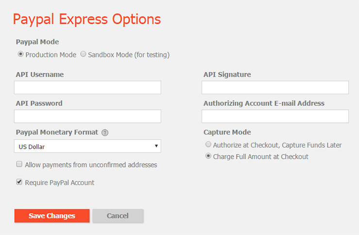 Hotcakes PayPal Express Configuration