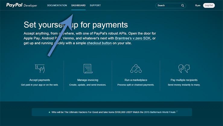 PayPal Developer Website