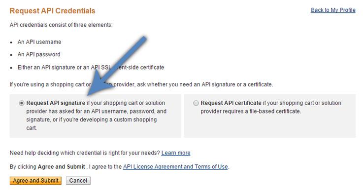 PayPal Request API Signature