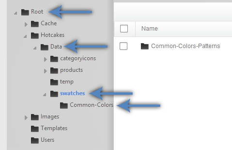 Swatch folders created