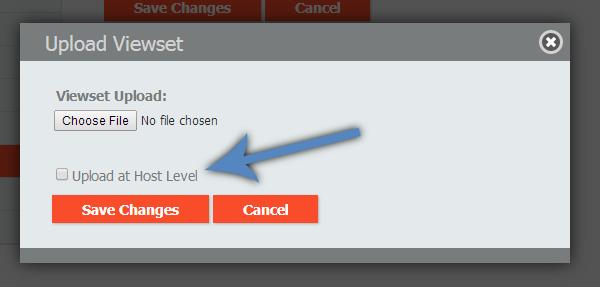 Upload at Host Level checkbox
