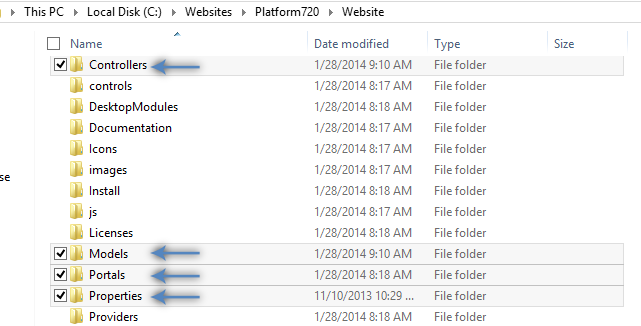 Extracted project files